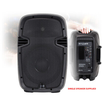 """RS10A 10"""" Inch Active Powered Speaker Portable DJ Disco PA EQ Moulded ABS 400W"""
