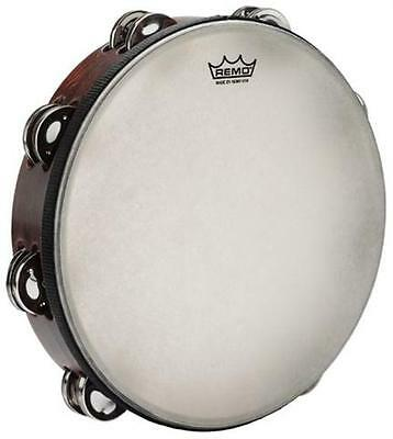 Remo TA301081 10 Double Row Gospel Tamborine Antique Finish