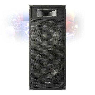 """Dual 15"""" Inch Active Powered Speaker Home DJ Party PA Karaoke System 1600W"""