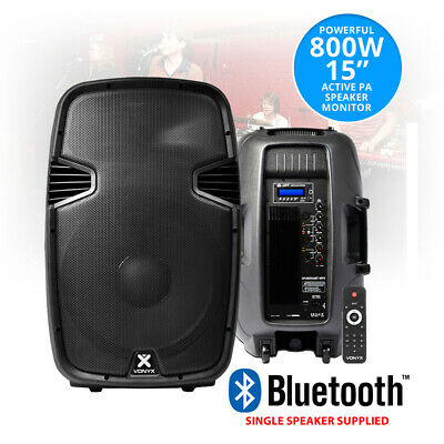 """15"""" Inch Active PA Loud Speaker Portable Stage Monitor Bluetooth 800W System"""