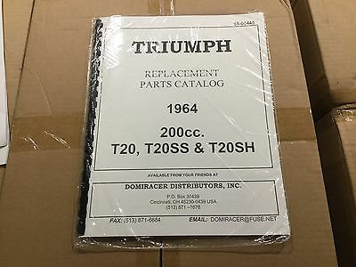 Triumph 1964 200cc T20, T20SS, T20SH Parts Catalogue 445 [3-65]