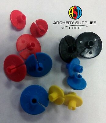 Archery Standard Hard plastic Kisser button Choose Colour & Size Pack of 2