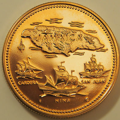 Jamaica $20 Gold Proof Coin 1972 10th Anniversary of Independence