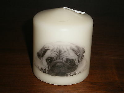 Candle Picture Pug Puppy Dog #2 Be Personalised Gift Birthday Memorial Love New