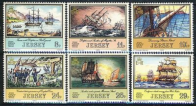"""1983 Great Britain Jersey Complete MNh set of 6 Stamps """"SHIPS"""""""