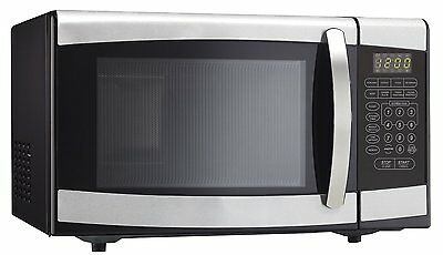 Danby Designer Microwave, Black, Stainless 0.9 cu.ft.
