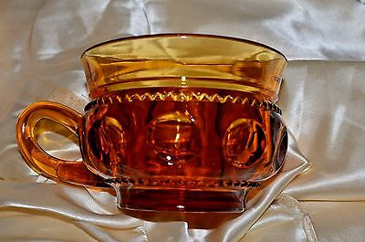 Vintage Indiana Glass King's Crown Thumbprint Amber Cup