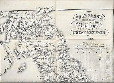 Bradshaw's New Map Of The Railways Of Great Britain For 1889