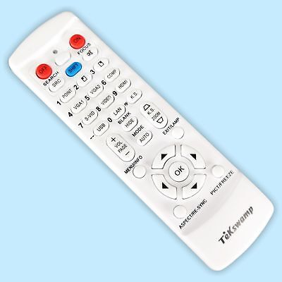 TeKswamp Remote Control for Sony VPL-VW60 Projector New White