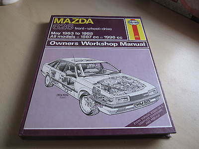 HAYNES MAZDA 626 front wheel drive, May 1983-1985, 1587-1998cc.ONE OWNER