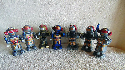Lot of 7 - Plastic Wind up Space Men Toys