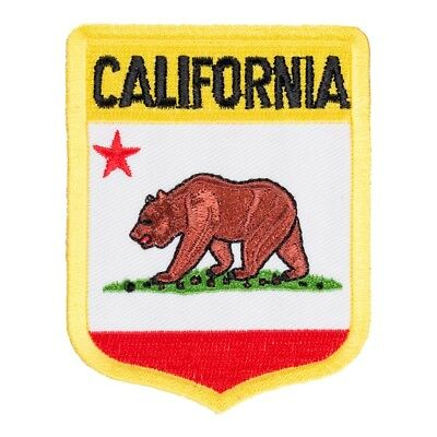 California State Flag Shield Patch, United States of America Patches