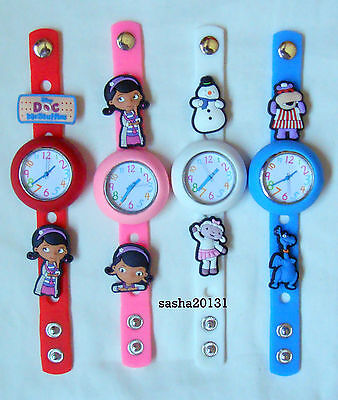 Dr Mcstuffins Jibbitz Band Watch  & A Set Of 7 Charms, Brand New