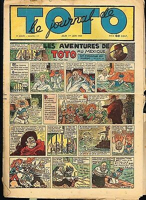 JOURNAL de TOTO  n°  117 01/06/1939 Rob Vel ... BE-