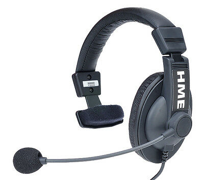 HM HME Electronics Clear-Com HS15 Headset with XLR 4-pin female Connector - NEW!