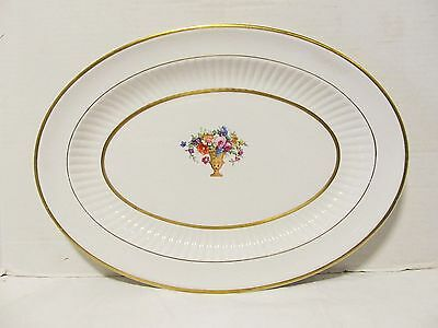 """Vintage K T & K  S----V China Platter Knowles Taylor & Knowles 14 1/2""""X11"""" LQQK!"""
