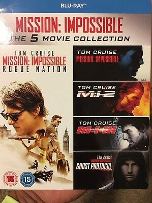 Mission Impossible The 5 Movie Collection Blu-Ray 5 disc New Tom Cruise 1-5