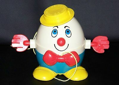 Vintage Fisher Price 1971 HUMPTY DUMPTY Pull Toy w/String #736 RARE