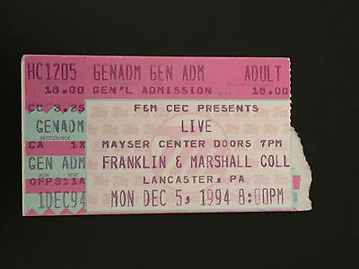 Live-The Band Ticket Stub-Franklin And Marshall College-1994