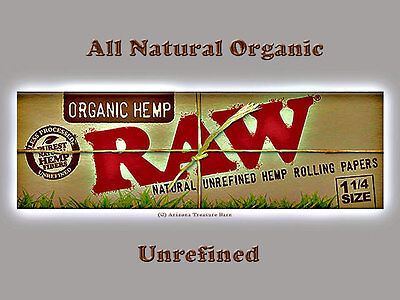 Raw Cig Rolling Papers All Natural Organic Hemp  1 1/4-save $ on multiple order-