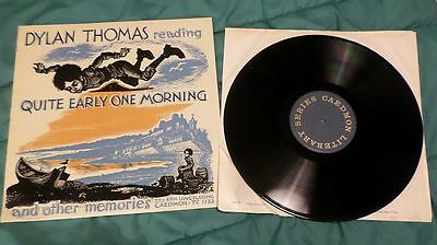 Dylan Thomas Reading Quite Early One Morning, Used, vinyl LP. Good