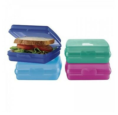 Tupperware Sandwich Keeper Containers Set of 4 ~~