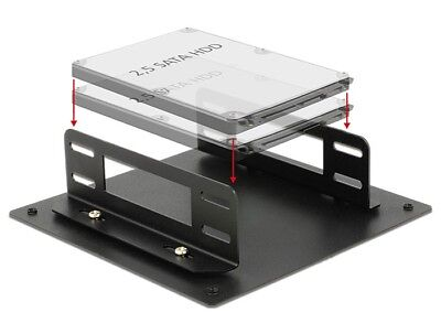 Delock Installation frame for 2 x 2.5″ drives into a free PC slot - PCI PCIe etc