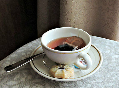 Fake Cup Tea Syracuse China Hand Crafted Faux Food Photo Prop Staging
