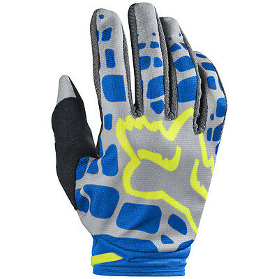 2017 Fox MX Womens Dirtpaw Race Gloves - Grey/Blue Motocross Offroad Trail Endur