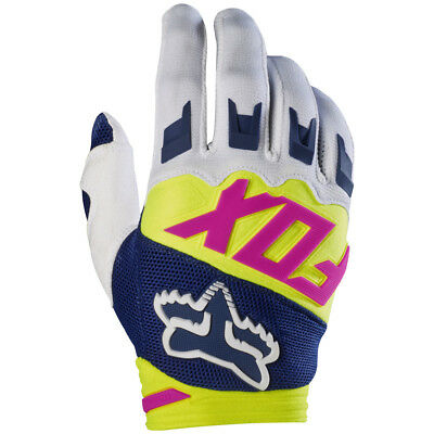 2017 Fox MX Youth Dirtpaw Race Gloves - Navy Blue/White Motocross Offroad Trail