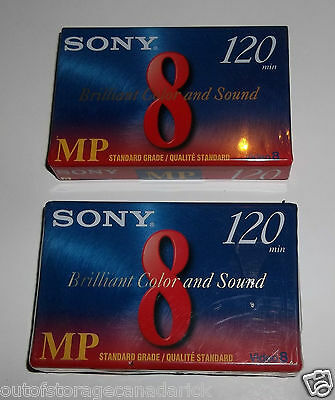 Sony P6-120MP Video 8 Camcorder Tape - 2 Total Brand New Sealed