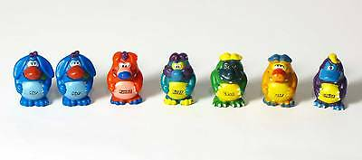 "Yowies Series 1 COMPLETE SET of 6 YOWIE figures +  spare ""Nap"" LIMITED EDITIONS"