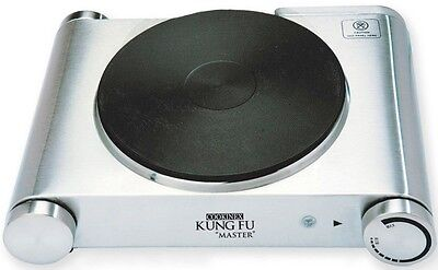 Kung Fu Stainls Steel Cast Iron Electric Portable Hot Plate Single Burner 1500-W