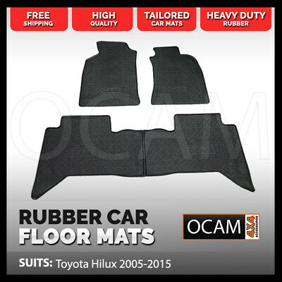 BRAND NEW Tailored Rubber Floor Mats for Toyota Hilux 2005-2015 Car Mats Vigo
