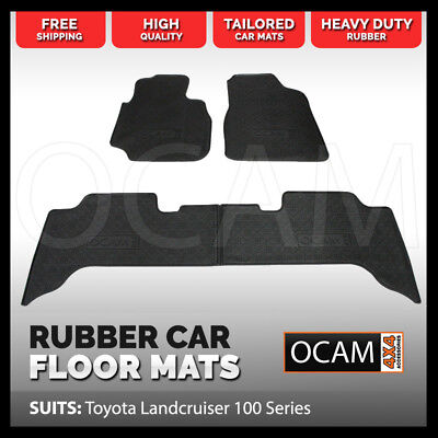 BRAND NEW Rubber Floor Mats for Toyota Landcruiser 100 Series Car Mats