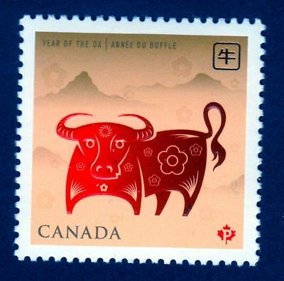 xca. OX New Year ZODIAC SIGH  Single Stamp CANADA 2009  MNH #2296