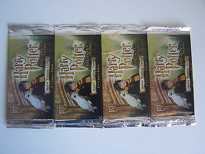 Harry Potter & the Sorcerer's Stone Movie Trading Cards 2001 - 4 Packs