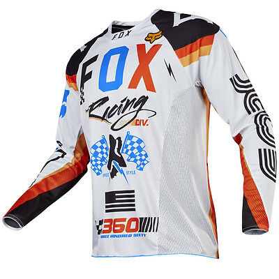 2017 Fox MX Mens 360 Jersey - Rohr White Motocross Offroad Trail Enduro
