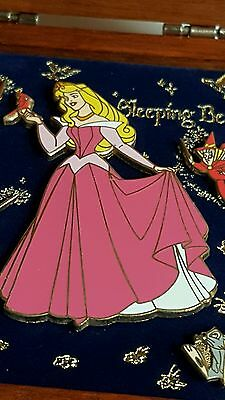 Disney Boxed Collection Pin Sleeping Beauty Aurora Rose Flora Fauna Merryweather