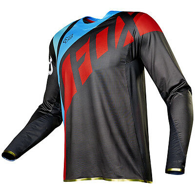 2017 Fox MX Mens Flexair Jersey - Seca Grey/Red Motocross Offroad Trail Enduro