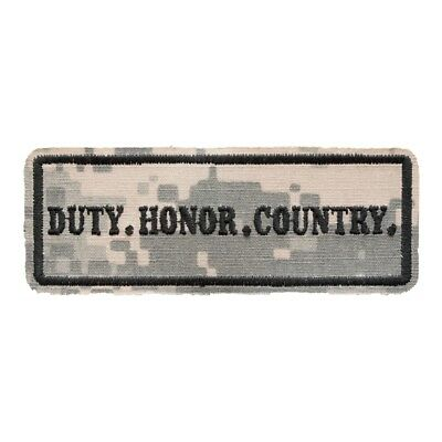 DUTY HONOR COUNTRY PROUDLY SERVED Military Veteran Patch P3163 E