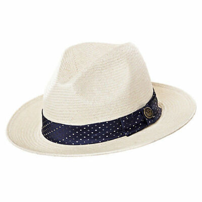 b234eb29d376f GOORIN BROTHERS Hawk Eye Natural Paper Hat Straw Trilby Fedora Bros  100-5780 New