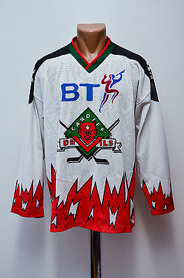 Cardiff Devils Wales Signed Ice Hockey Shirt Jersey Maglia Ice Cear