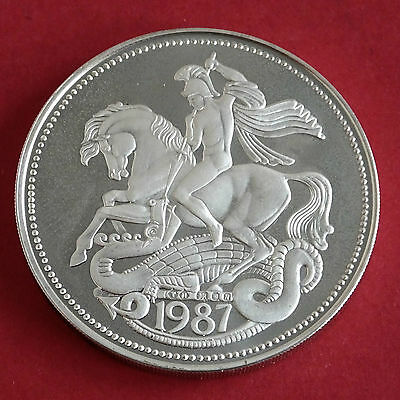 EDWARD VIII 1937 - 1987 50th ANNIVERSARY HM SILVER PROOF MEDAL