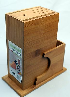 Multi-Functional Bamboo Kitche Knife Stand With Non-Slip Grip