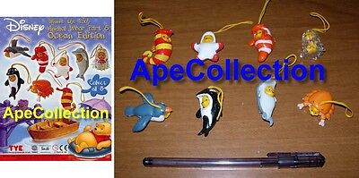 Set 8 Figure WINNIE POOH Serie OCEAN Figures MINI WINNIES Tomy Originali PEEK