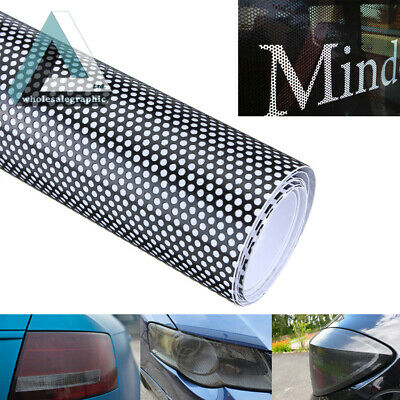 30x107cm Car Window Fly Eye Headlight Vinyl Wrap Spi Vision MOT Legal Black Tint