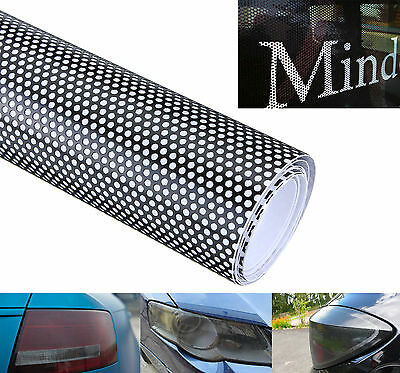 20x107cm Car Window Fly Eye Headlight Vinyl Wrap Spi Vision MOT Legal Black Tint
