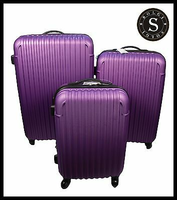 Quality Lightweight Purple Hard Shell Cabin Large ABS Luggage Suitcase