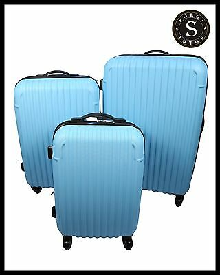 Quality Lightweight Sky blue Hard Shell Cabin Large ABS Luggage Suitcase